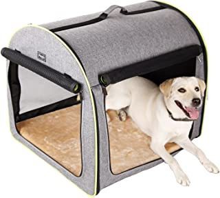 """Petsfit 30"""" x24""""x25(LxWxH) Inches Medium Soft Portable Dog Crate/Cat Crate/Foldable Pet Kennel/Indoor Outdoor Pet Home for..."""