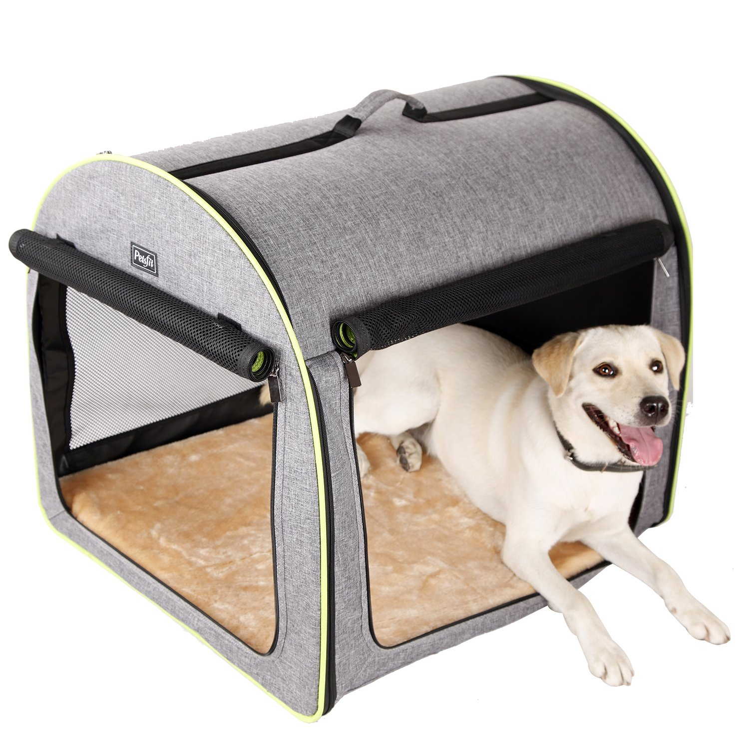 Amazon Com Petsfit 30 X24 X25 Lxwxh Inches Medium Soft Portable Dog Crate Cat Crate Foldable Pet Kennel Indoor Outdoor Pet Home For Medium Dogs Pet Supplies