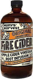 Hany's All Natural Original Fire Cider Tonic with Organic Apple Cider Vinegar, Lemon, Yellow Onion, Garlic, Ginger, Horser...