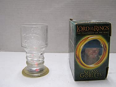 """The Lord of The Rings """"The Fellowship of The Ring"""" GANDALF Glass Goblet by Equity Marketing, Inc."""