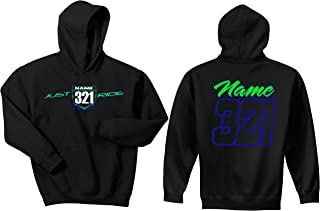 JUST RIDE Motocross Number Plate Custom Personalized Hoodie Sweat Shirt YZ