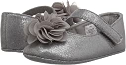 Soft Sole Shimmer Mary Jane with Flower (Infant)