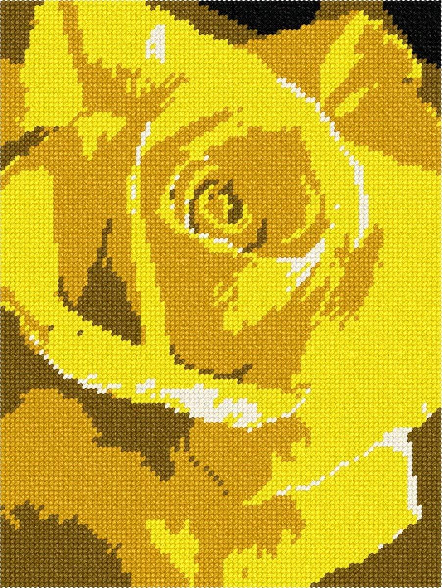 Outlet Austin Mall ☆ Free Shipping pepita Yellow Rose Kit Needlepoint Large