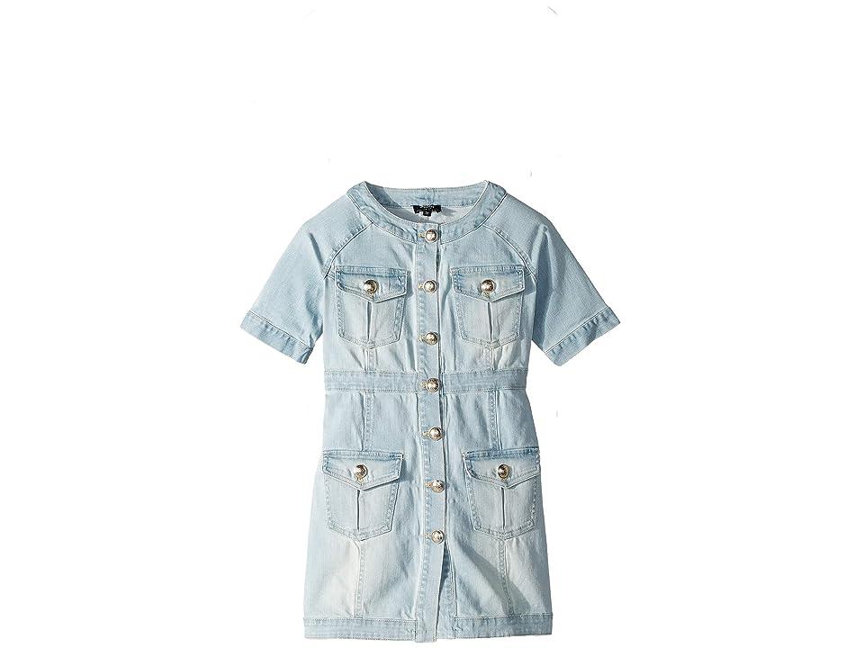 Bardot Junior Mila Denim Dress (Big Kids) (Marisol Blue) Girl