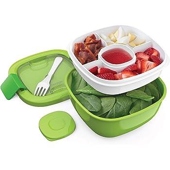 Salade Tasse Petit Déjeuner Déjeuner Tasse Dressing Récipient En route to-go avec fourche