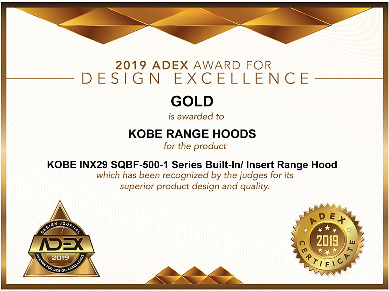 KOBE Range Hoods INX2930SQBF-500-1 Built-In/Insert Range Hood, 30