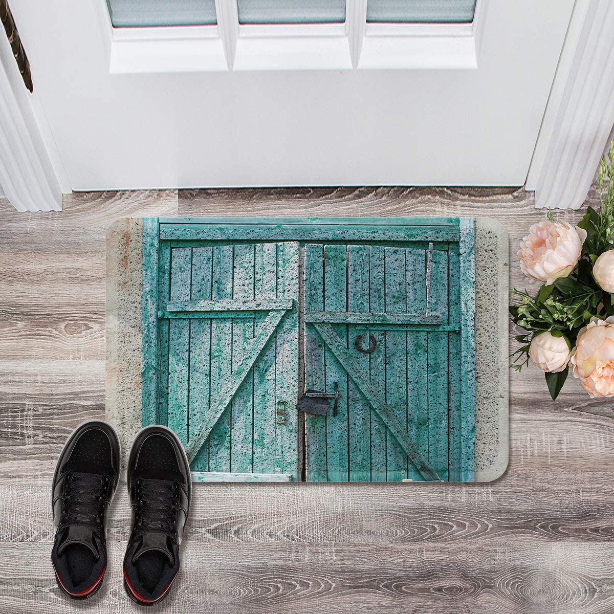 Front Over item handling Door Welcome Mat Non-Slip Heavy Rus Clearance SALE Limited time Blue Entrance Rug Duty