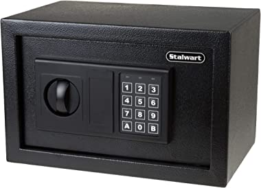 Digital Safe – Electronic Steel Safe with Keypad, 2 Manual Override Keys – Protect Money, Jewelry, Passports – For Home, Busi