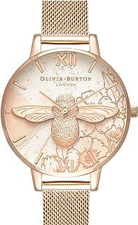 Olivia Burton Femme Analogique Quartz Montre avec Bracelet en Milanais OB16VM26