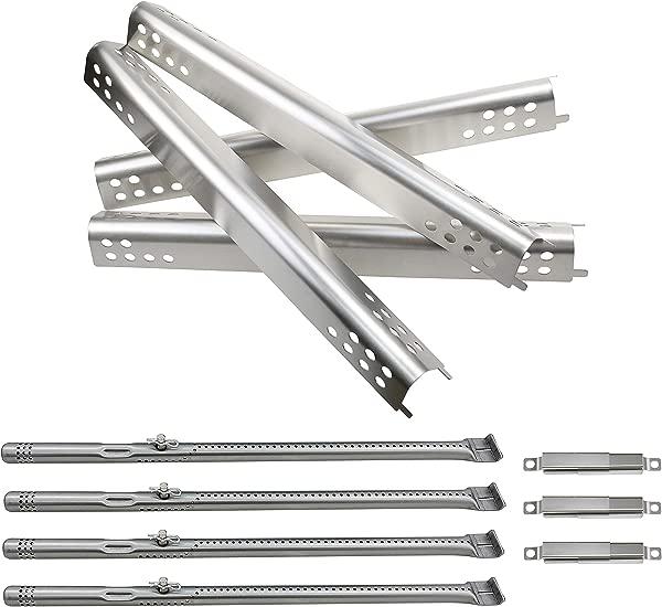 Hisencn Repair Kit Replacement For Charbroil Performance 475 4 Burner 463347017 463673517 463673017 463376018P2 Liquid Propane G470 0004 W1 Grill Burner Heat Plate Tent Shield Carryover Tube
