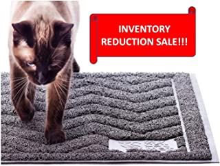 My Cat Mat Cat Litter Mat Traps and Controls Kitty Litter Scatter Large XL Size for Tracking and Trapping Scat from Litter Box, Best Easy Clean Catching and Trapper Rug, Soft on Paws - Grey