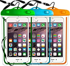 3 Pack Universal Waterproof Case Compatible with iPhone X XS MAX XR 7,8 6/6S Plus,6 6S 5 5S SE 5C,Galaxy S9,s8/s8plus/s7 Smartphone Diagonal to 6