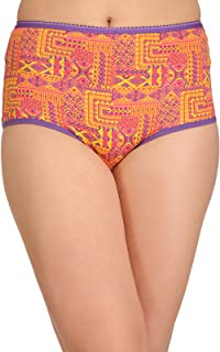 Clovia Women's Cotton High Waist Printed Hipster Panty