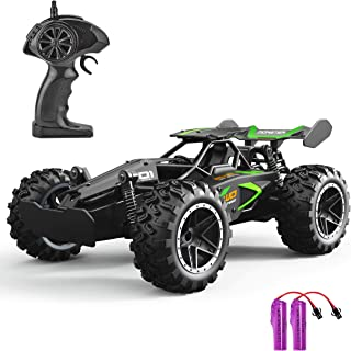 GotechoD RC Cars for Kids Remote Control Car 2.4Ghz High Speed Racing Car, 1: 18 Scale Electric RC Toys for Boys Girls Adults Birthday Xmas Gifts with 2 Batteries Black