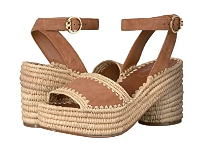 Tory Burch 90 mm Arianne Platform Sandal (Tan) Women