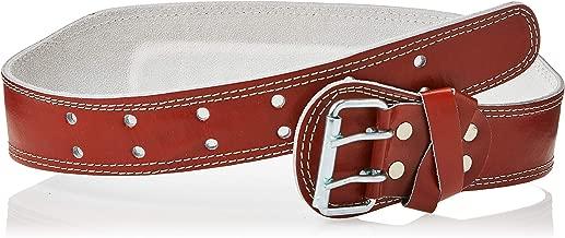 AURION Unisex Adult POWER-Medium-Brown-Gym belt Genuine Leather Weight Lifting Belt Body Fitness Gym Back Support Power Lifting Belt - Brown, Medium