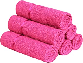Story@Home 6 Piece 450 GSM Cotton Face Towel Set - Pink