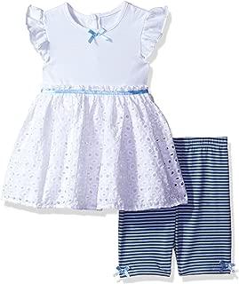 Cherokee - Conjunto de túnica de Jersey para niña con Ojales y Pantalones Cortos para Bicicleta