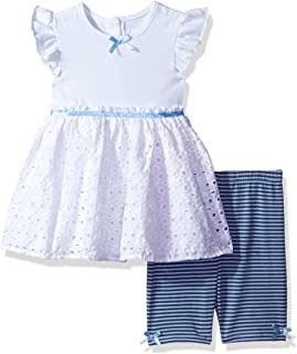 Cherokee Girls' Toddler Jersey Tunic with Eyelet and Bike Short Set