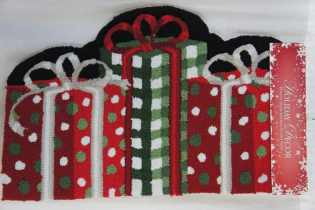 盲信土帝国主義ホリデーデコ ハンドフック クリスマスプレゼント 20 x 32 アクセントラグ