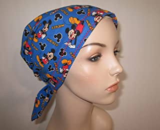 Mickey Mouses Scrub Cap Chemo Hat Alopecia Head Cover Cancer Scarf