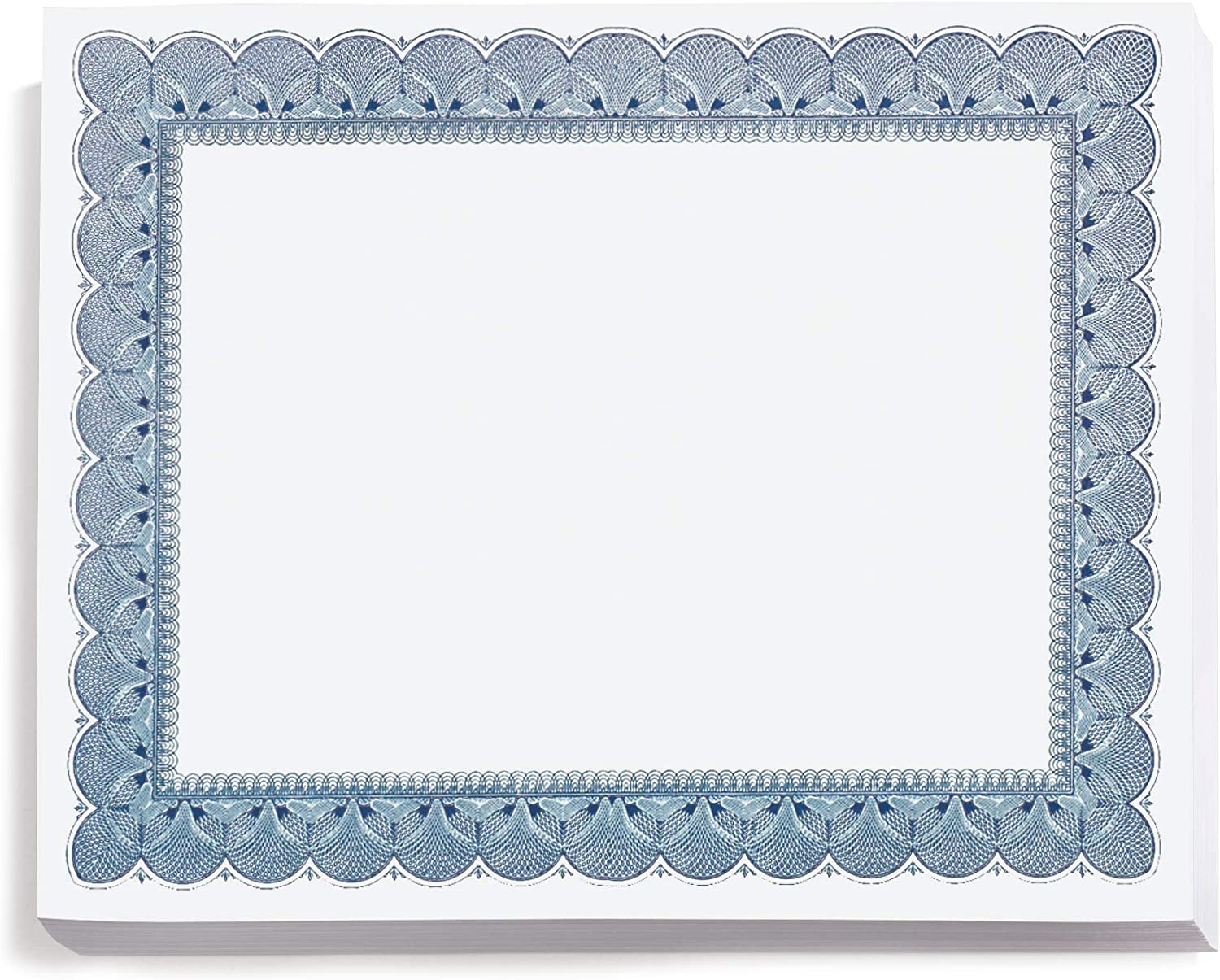 PaperDirect Traditional Blue Standard Los Angeles Mall Certificate Paper Great interest Bo