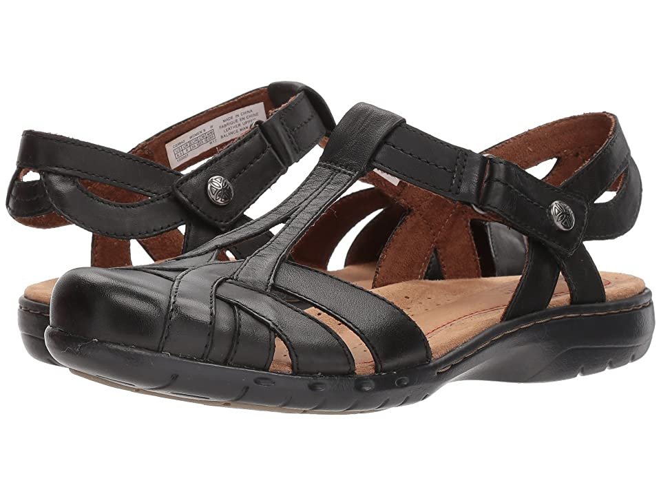 Rockport Cobb Hill Collection Cobb Hill Penfield T Sandal (Black Leather) Women