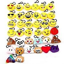 JZK 38 Piccoli giochi giocattoli peluche 5cm mini emoji portachiavi emoticon whatsapp regalo compleanno Natale bomboniera festa bambini adulti