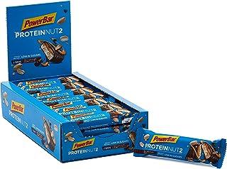 PowerBar protein Nut2 mjölkchoklad jordnöt 18 x (2 x 22,5 g) – högprotein med låg sockerriegel