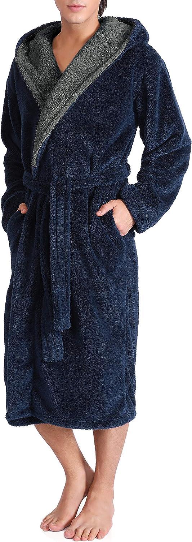 DAVID ARCHY Men's Soft Fleece Plush Finally resale start Length Full Robe Long 2021new shipping free Bathro
