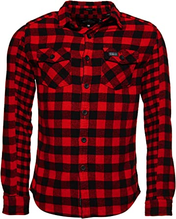Superdry Buffalo Flannel L/S Shirt Camisa para Hombre