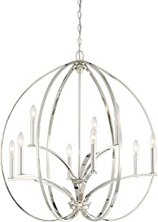 Minka Lavery Chandelier Lighting 4989-613 Tilbury, 9-Light 540 Watts, Polished Nickel
