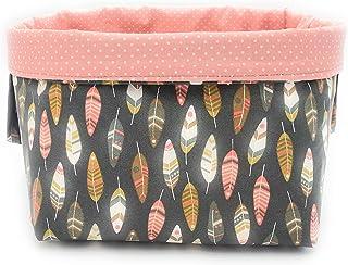 Paniers de rangement en tissu cubes réversibles en coton pour étagères et bureaux, panier/boîte/panier multi-usages décora...