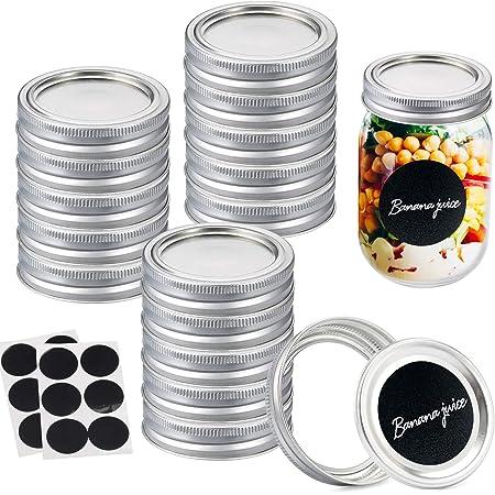 Leak Proof and Secure Canning Jar Caps 150 Pack Regular Mouth Canning Lids Mason Jar Lids Regular Mouth Split-Type Mason Jar Lids for Canning