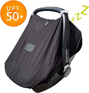 SnoozeShade Car Seat Canopy Lite   Baby car seat Sun Shade and Sleep aid   360 Degree Protection Stops 99% of The Sun's Rays (UPF50+)
