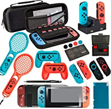Best Ultimate Nintendo Switch Accessories Bundle Prestige Edition – Includes Travel Case, Screen Protectors, TPU Cases, Steering Wheels, Rackets, and more! Review