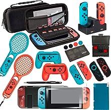 Ultimate Nintendo Switch Accessories Bundle Prestige Edition – Includes Travel Case, Screen Protectors, TPU Cases, Steerin...