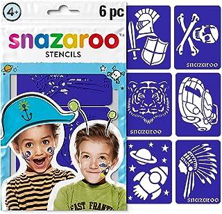 Snazaroo Unisex Face Paint Stencils Adventure Set of 6