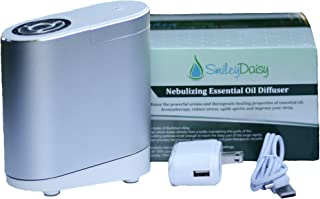 Smiley Daisy Nebulizing Oil Diffuser - Variety Timer Settings -Aluminum Base with Empty Bottle