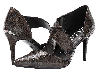 Calvin Klein Gella Pump (Camouflage Two-Tone Snake) High Heels