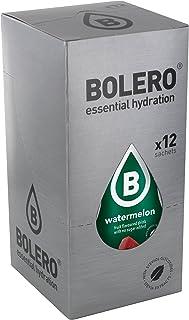 Bolero Bebida Instantánea sin Azúcar, Sabor Sandía - Paquete de 12 x 9 gr - Total: 108 gr