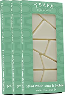 Trapp Home Fragrance Melt, No. 64 White Lotus & Lychee, 2.6-Ounce, 3-Pack
