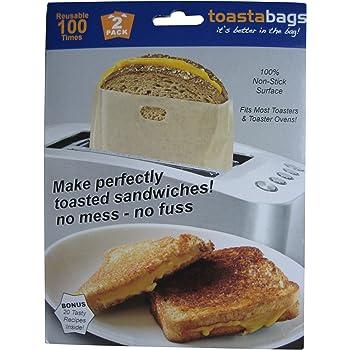 Kitchen Craft Lot de 2 sacs /à toasts anti-adh/ésifs et r/éutilisables