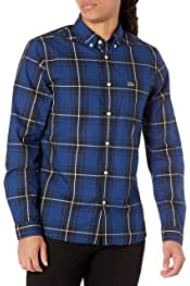 Lacoste Men's Long Sleeve Plaid Slim Fit Poplin Shirt 5.0 out of 5 stars 12 $99.99$99.99 Ships to Japan