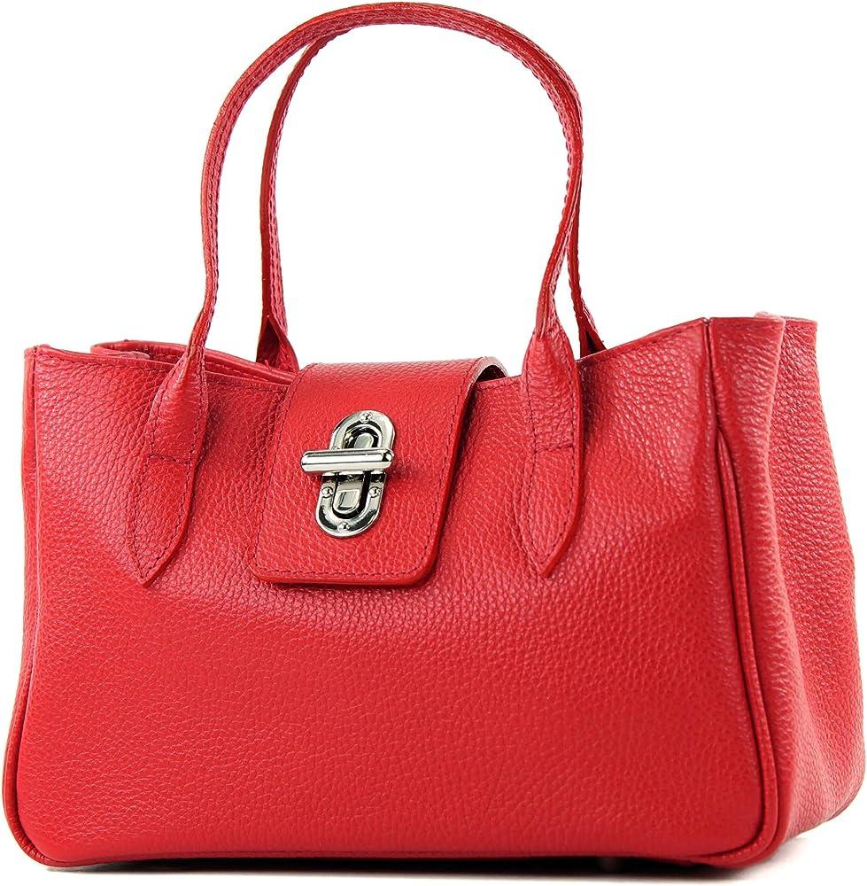 Modamoda de borsa da donna a mano in vera pelle TL03GL-R