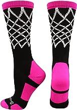 MadSportsStuff Elite Basketball Socks with Net Crew Length (Multiple Colors)
