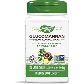 Nature's Way Premium Herbal Glucomannan from Konjac Root, 1,995 mg per serving, 100 Capsules