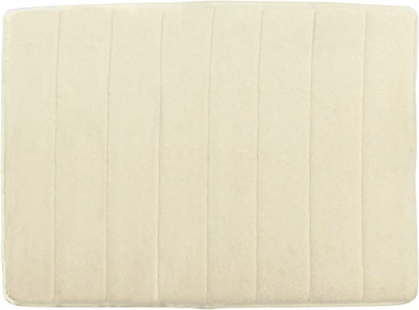 Amazon Com Unbrand 34 X 21 Inch Luxury Memory Foam Bath Mat Cream Home Kitchen