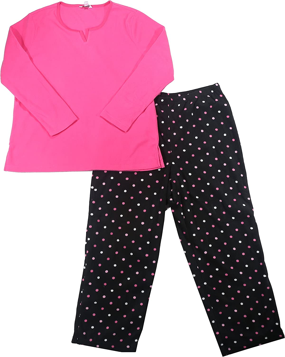 Charter Club Mix It Solid Top and Fleece Pajama Pants Set