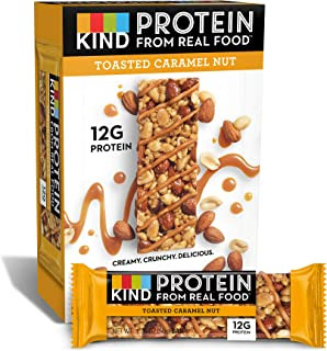 KIND Protein Bars, Toasted Caramel Nut, Gluten Free, 12g Protein,1.76 Ounce (12 Count (Pack of 1))
